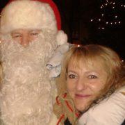 Steffi mit dem Weihnachtsmann